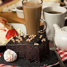 Enjoy tea and cake